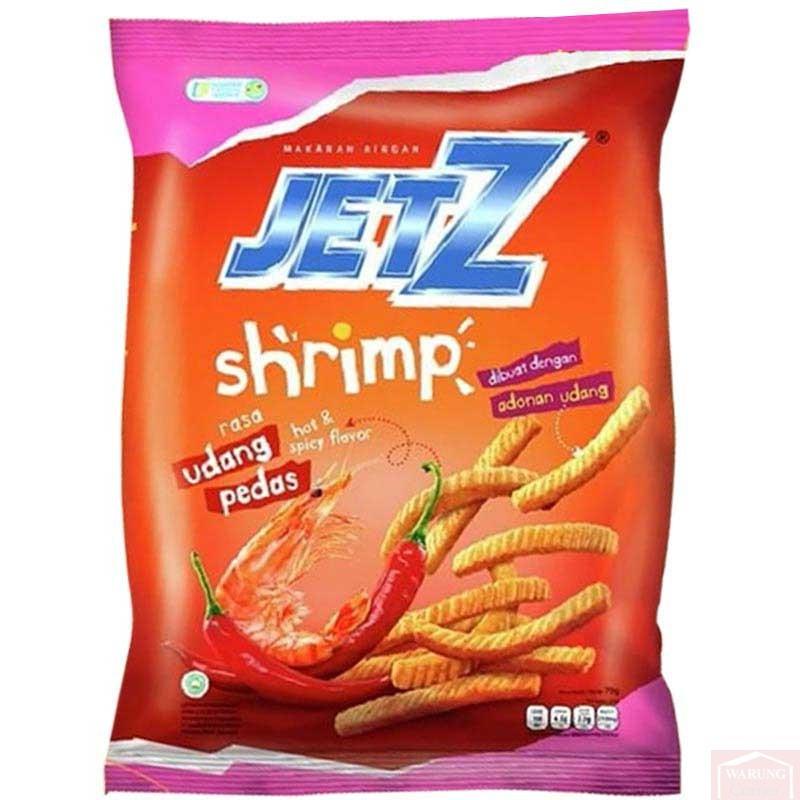 Chips Jetz Shrimp Spicy 70g